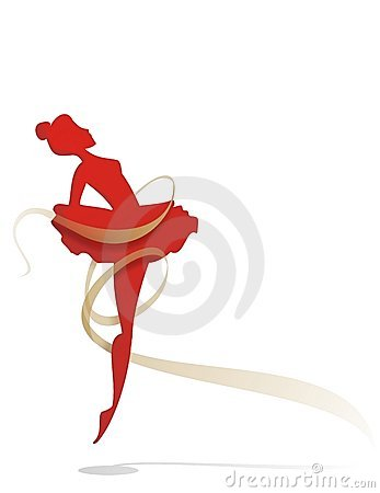 Free Ballet Dancer With A Gold Tape Royalty Free Stock Photos - 4871678