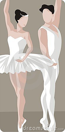 Ballet Dancers Illustration