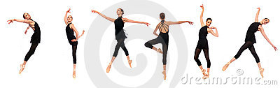 Ballet En Pointe Poses in Studio