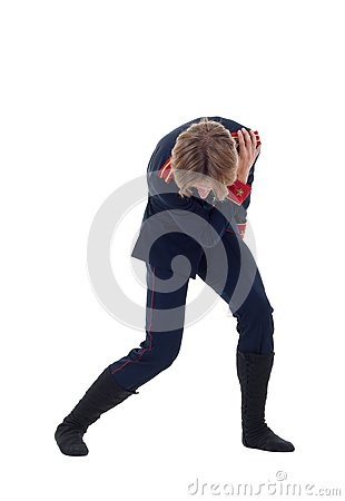 Ballet figurant giving a bow
