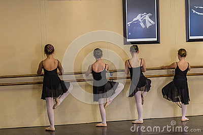Ballet Girls Bar Editorial Stock Photo