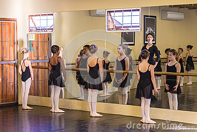 Ballet Girls Teacher Editorial Photo