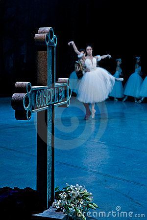 Ballet Giselle in Prague State Opera Editorial Stock Photo