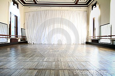Ballet Hall with big mirrors