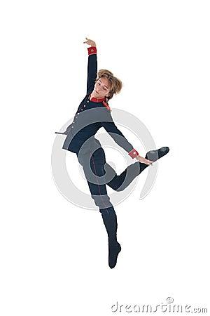 Ballet man jumping
