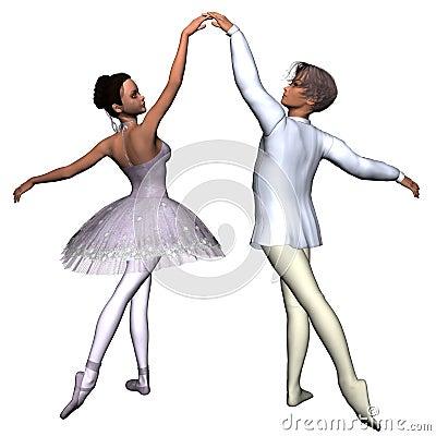 Free Ballet Pas De Deux - 1 Royalty Free Stock Image - 3654156