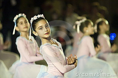 Ballet Performance at the Vienna Ball in Bucharest Editorial Photo