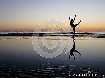 Ballet Posing in the sunset