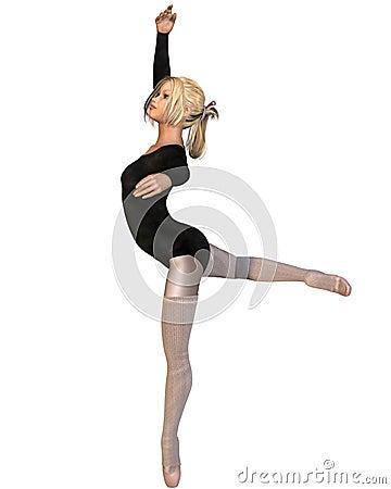 Ballet Practice - Attitude Pose