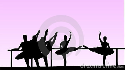 Ballet school girls vector