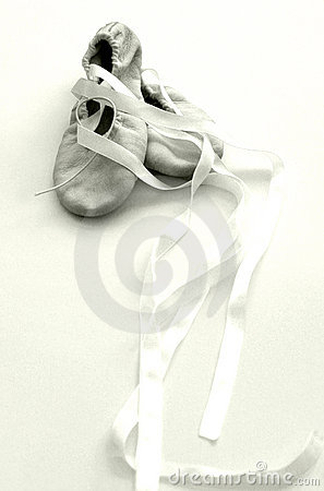 Free Ballet Shoes, Hight Key Sepia Royalty Free Stock Images - 5076639