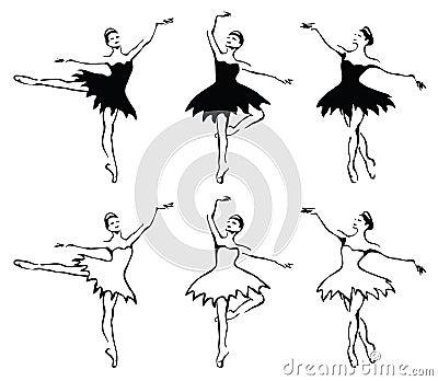 Ballet woman-dancers.