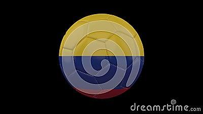 Ballon de football avec la tasse de Copa Am?rique au Br?sil 2019 drapeaux, alpha boucle illustration stock
