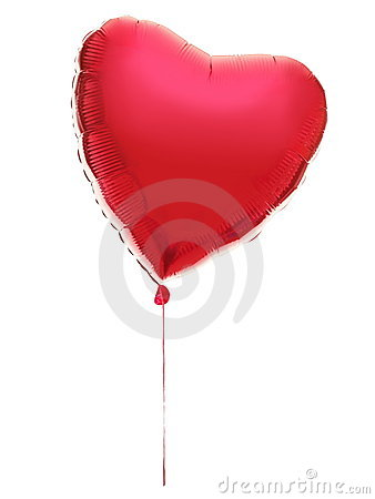 Free Ballon Heart : Red Valentine Love Concept Stock Image - 17762921