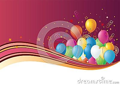 Ballone und Feier