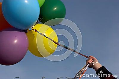 Ballons colorés