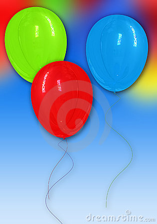 Ballons holiday card und
