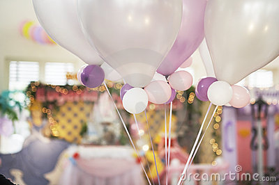 Ballons in a party