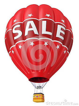 Balloon with advertising sale 3d