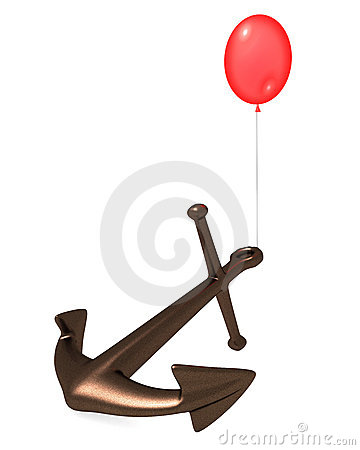 Balloon and anchor.