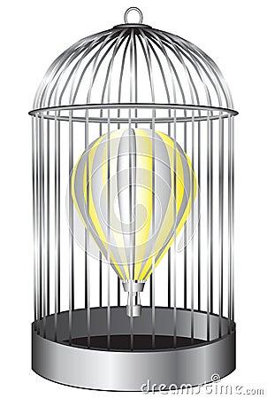 Balloon bird cage