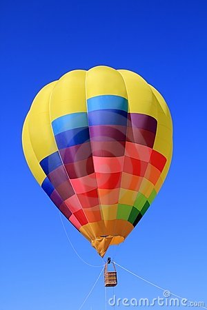 Balloon colorful vivid colors in blue sky