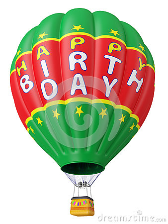 Balloon a congratulation happy birthday