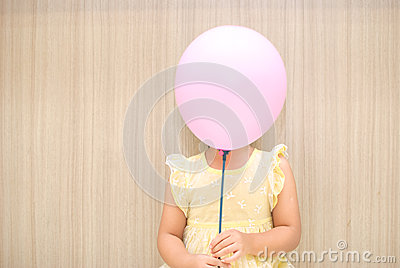 Balloon cover a girl