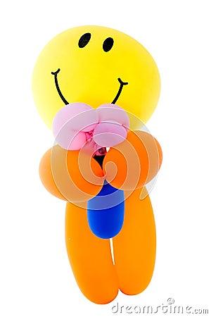 Balloon fantacy men bouquet flower on white background