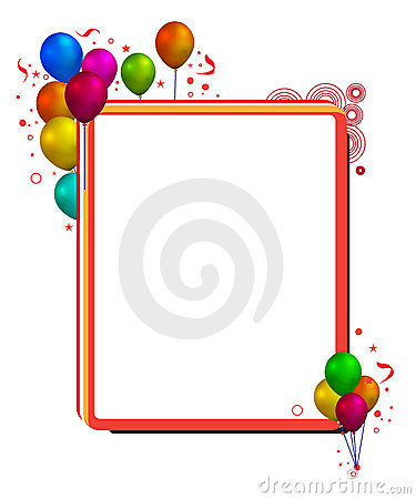 balloon with frame stock photography image 15766382