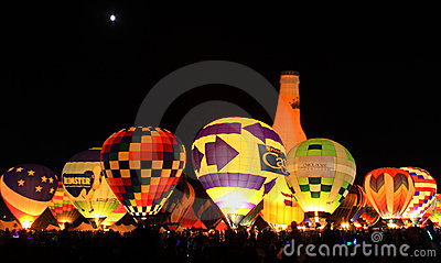 BALLOON GLOW-2010 Editorial Photo
