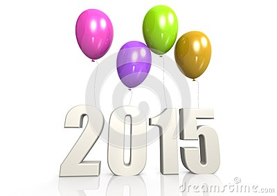 2015 with balloon