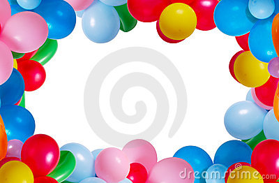 Balloon isolated on white background