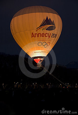 Balloon over Annecy. Editorial Image