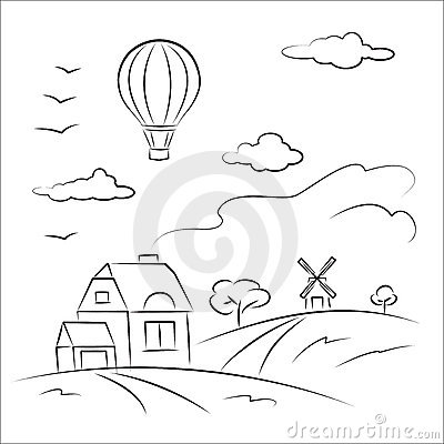 Balloon over the country