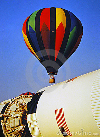 Balloon over NASA