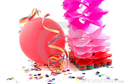 Balloon and party streamers