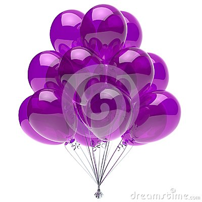 Free Balloon Purple Birthday Party Decoration Glossy Balloons Violet Royalty Free Stock Image - 115195176