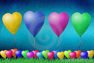 Balloon  recycled paper craft