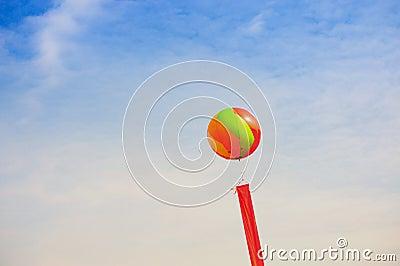 Balloon and ribbon