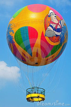 Balloon with riders Editorial Image