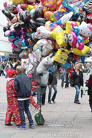 Balloon seller Editorial Image