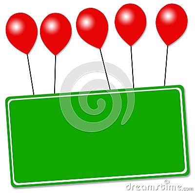 Balloon sign