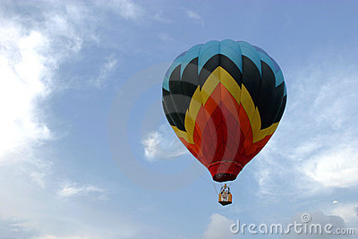 Balloon Soaring in the Sky