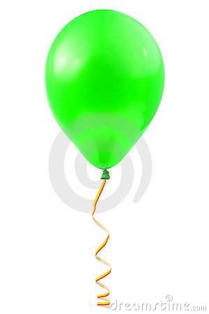 Balloon and streamer