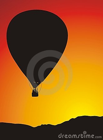 The balloon travels