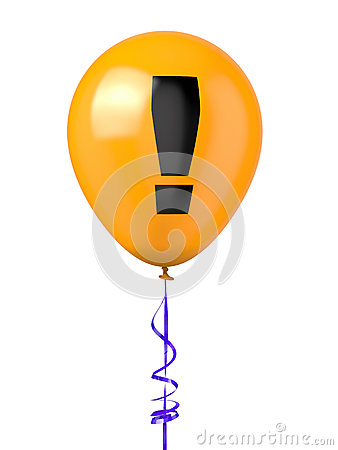 Balloon with warning symbol