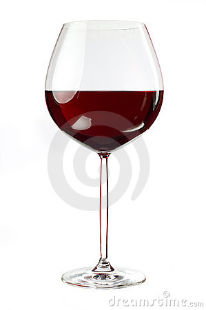 Balloon wineglass for rich red wines