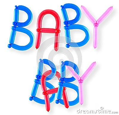 Balloon word baby