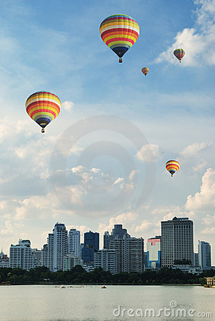 Ballooning over the city